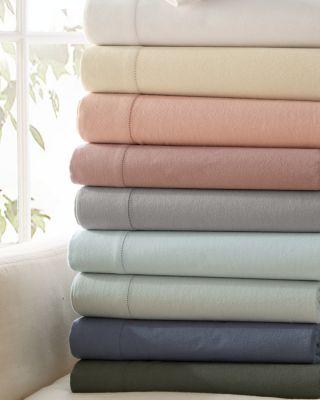 Hemstitched Supima Cotton Flannel Bedding Garnet Hill