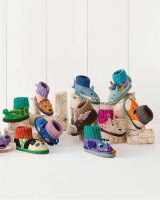 Kids' Boiled Wool Slipper Boots by Garnet Hill