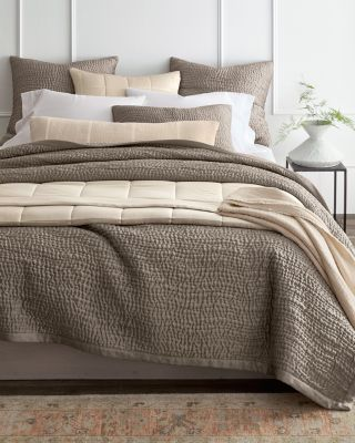 EILEEN FISHER Waves Washed-Silk Quilt, Sham, and Pillow