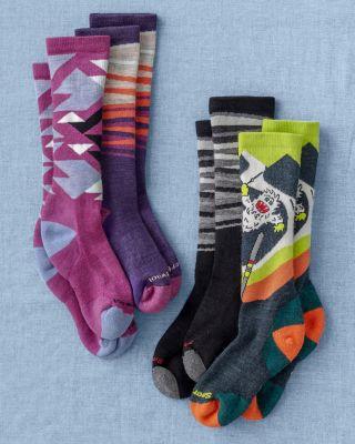 Smart Wool® Kids' Wintersport Sock Set by Garnet Hill