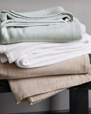 EILEEN FISHER Organic-Cotton Blanket and Throw