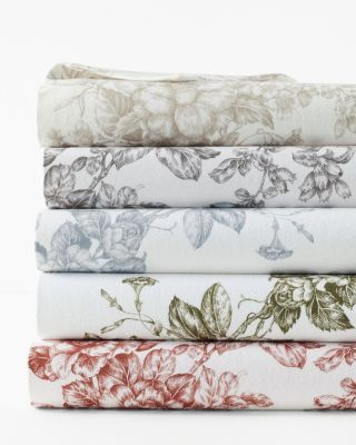 Garnet Hill Signature Toile Floral Flannel Bedding