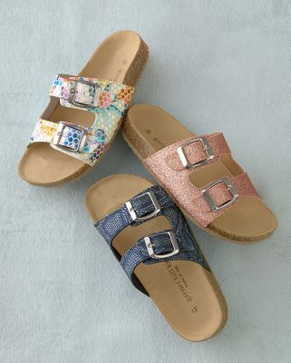 Kids' Double-Strap Cork-Bed Sandals