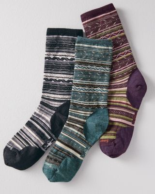 Buy More & Save Smart Wool® Ethno Graphic Crew Socks by Garnet Hill