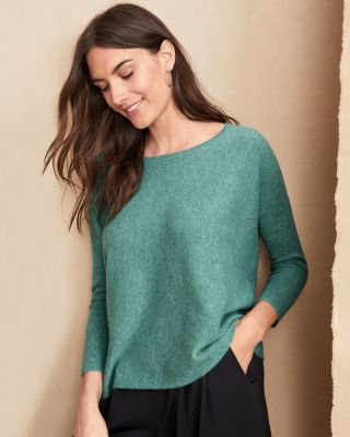 Extra Savings Cashmere Cropped Sweater by Garnet Hill