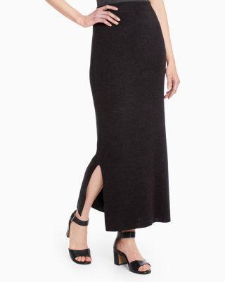 Eco Merino Knit Maxi Skirt by Garnet Hill