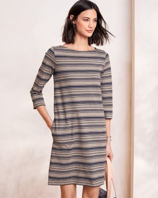 Organic-Cotton Bateau-Neck Dress