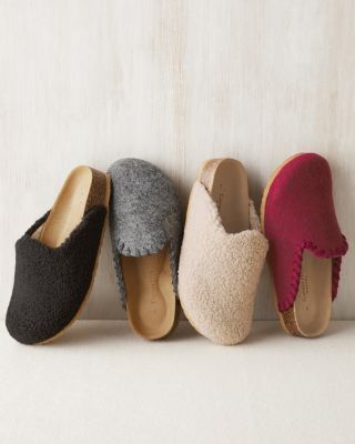 Cork Footbed Mule Slippers