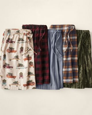 Men's Organic-Pima-Cotton Flannel Shorts