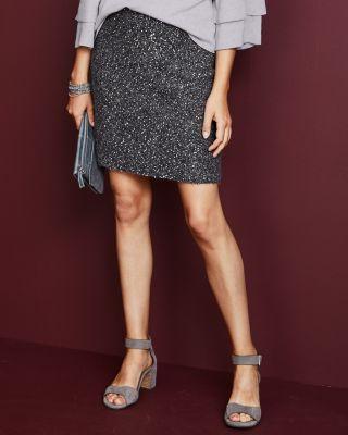 Sequin Sweater Skirt by Garnet Hill