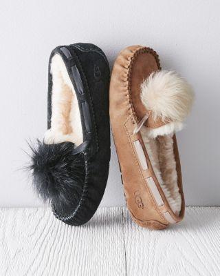 7c368e87864 UGG® Dakota Pom-Pom Moccasin Slippers