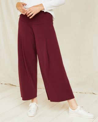 Pleat-Detail Cropped Pants