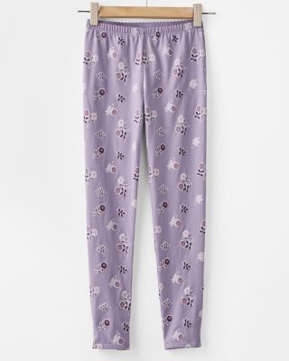 Girls' Printed Cotton Leggings