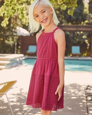 Girls' Everly Eyelet Gauze Dress