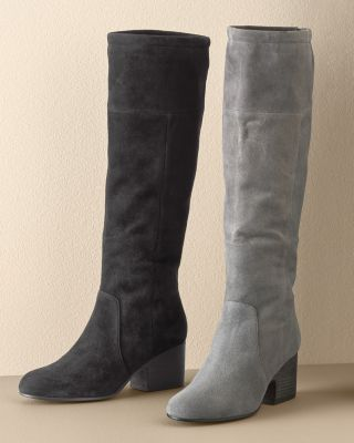Eileen Fisher Tall Suede Boots by Garnet Hill