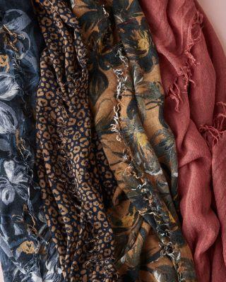 Chan Luu Silk & Cashmere Printed Scarf by Garnet Hill