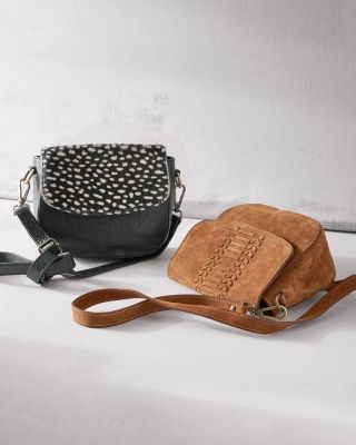 Stella Cross Body Saddle Bag by Garnet Hill