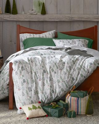 Winter Trees Flannel Bedding