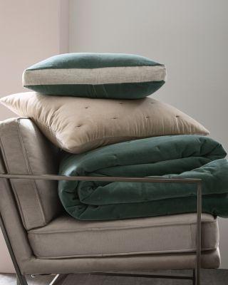 Eileen Fisher Organic Cotton Velvet & Linen Quilt, Sham, And Pillow Cover by Garnet Hill