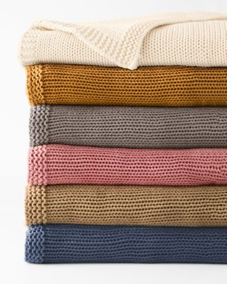 Cotton Chunky-Knit Throw