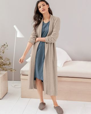 EILEEN FISHER Cashmere Seam-Detail Robe