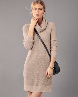 Easy Cowl Neck Sweater Dress by Garnet Hill