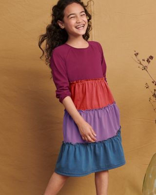 Girls' Organic-Cotton Color-Wheel Dress