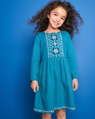 Girls' Angelina Embroidered Dress