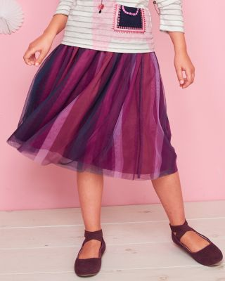 Girls' Tulle Midi Skirt