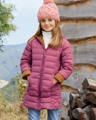 Girls' Garnet Hill Reversible Down Coat