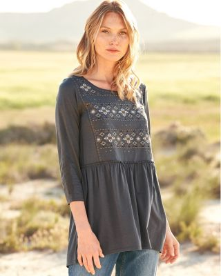 Embroidered Bohemian Knit Tunic