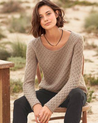 Cashmere Textured Stitch Sweater by Garnet Hill