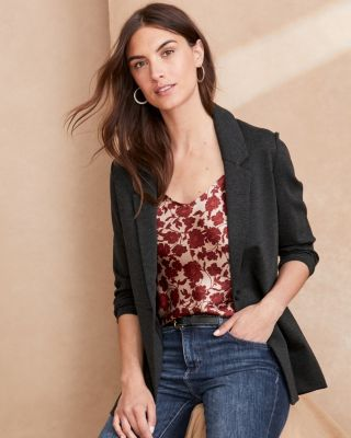 Knit Relaxed Blazer