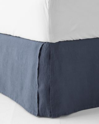 Solid Relaxed-Linen Bedskirt