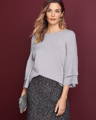 Ruffle Sleeve Sweater by Garnet Hill