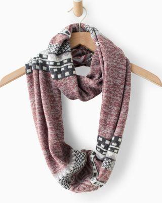 Smart Wool® Dazzling Wonderland Infinity Scarf by Garnet Hill