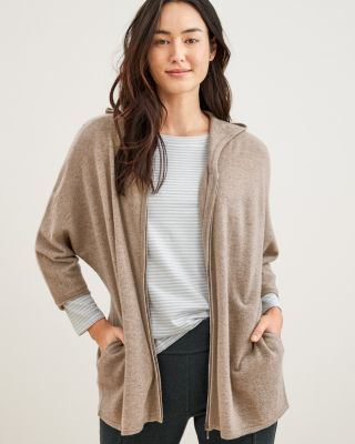 Zip Front Cashmere Cardigan by Garnet Hill