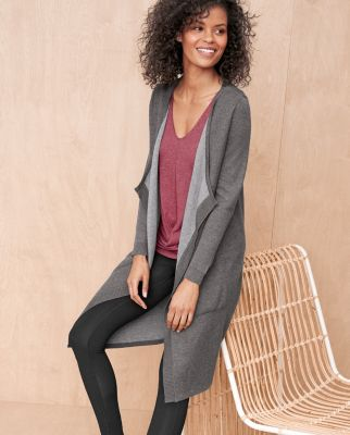 Reversible Long Cardigan by Garnet Hill