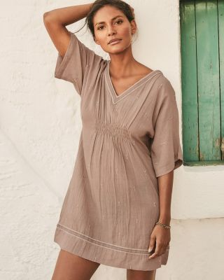 cd3a24fd6a2 Organic-Cotton Embroidered Cover-Up