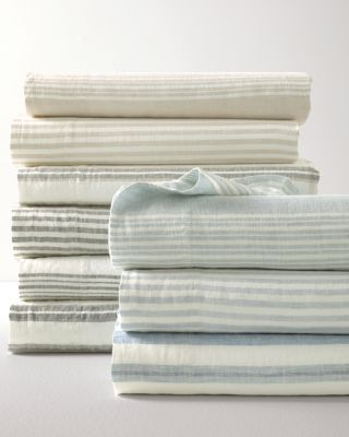 Stripe Relaxed-Linen Bedding and Pillow Cover