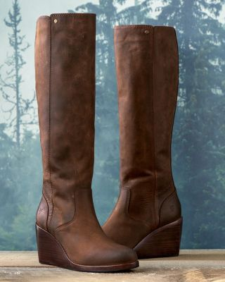 Frye Emma Wedge Tall Boots