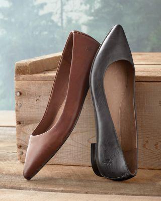 Frye Sienna Leather Ballet Flats by Garnet Hill