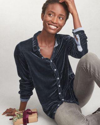 Cp Shades Romy Velvet Shirt by Garnet Hill