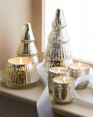 Mercury Glass Tree Candle and Votives