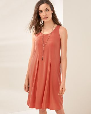 Pleat-Detail Tank Dress