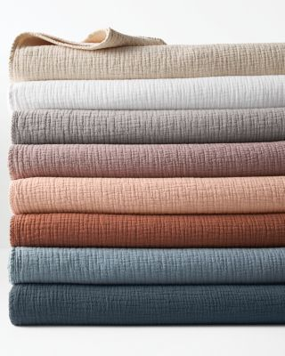 Isa Stonewashed Organic Cotton Blanket And Throw by Garnet Hill