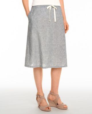 2e2fbdd1c39 EILEEN FISHER Hemp & Organic-Cotton Skirt | Garnet Hill