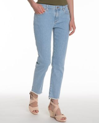 EILEEN FISHER Frayed-Hem Organic-Cotton Stretch Jeans