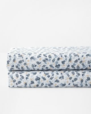 Ditsy Floral Relaxed Linen Bedding And Pillow Cover by Garnet Hill