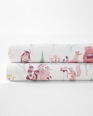 Woodland Party Organic Cotton Percale Bedding by Garnet Hill
